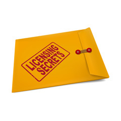 licensing secrets on manila envelope