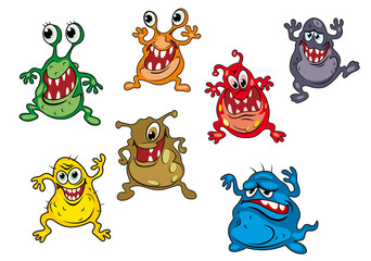 Danger cartoon monsters