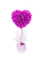 Plastic bush tree heart shape.