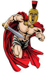 Spartan or trojan man