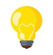 Vector Bulb Flat Icon