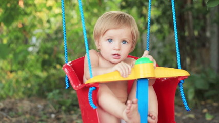Child swing on garden
