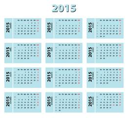2015 blue portuguese calendar