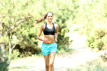 Young woman jogging at park