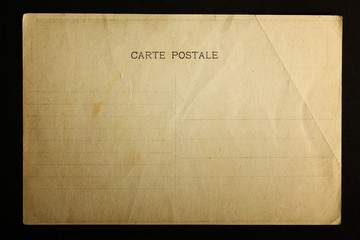 texture of old postal card