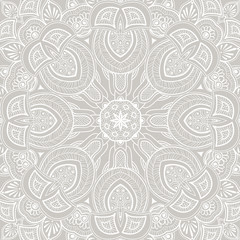 Ornamental round lace background