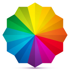 Abstract color wheel icon