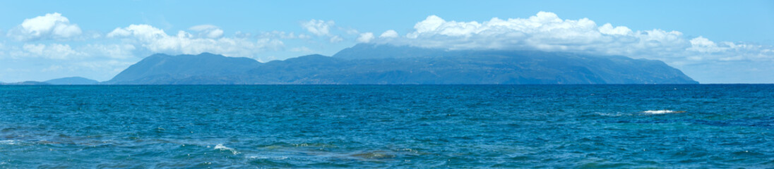 Summer sea panorama (Greece, Lefkada).