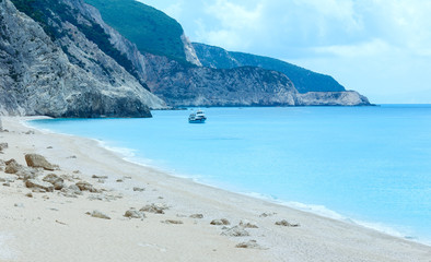Egremni beach summer view (Lefkada, Greece)