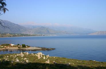 Sea summer landscape coast of the Greek island