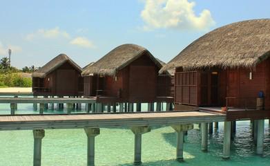 Water villa Lagoon Maldives resort Landscape