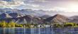 Leinwanddruck Bild - Issyk Kul lake panorama