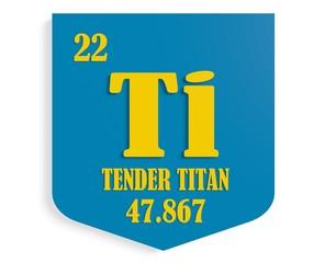 tender titan instead titanium