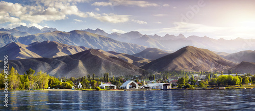 Issyk Kul lake panorama - 68799836