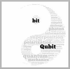 Qubit vs bit word cloud