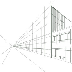 linear drawing of a street
