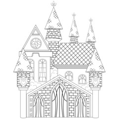 The Princess Castle Coloring Book Page