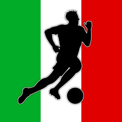 Italy Soccer Means National Flag And Euro