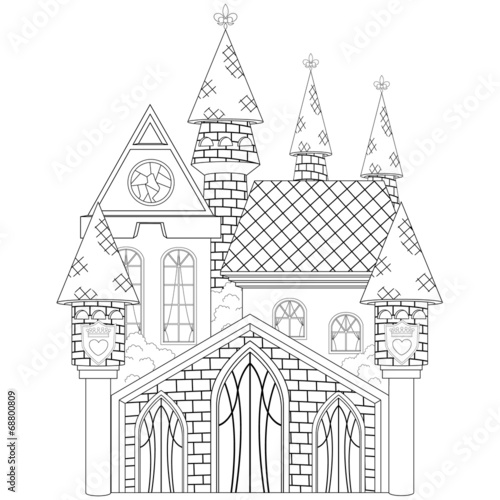 The Princess Castle Coloring Book Page | Buy Photos | AP Images ...