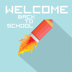 vector concept of back to school