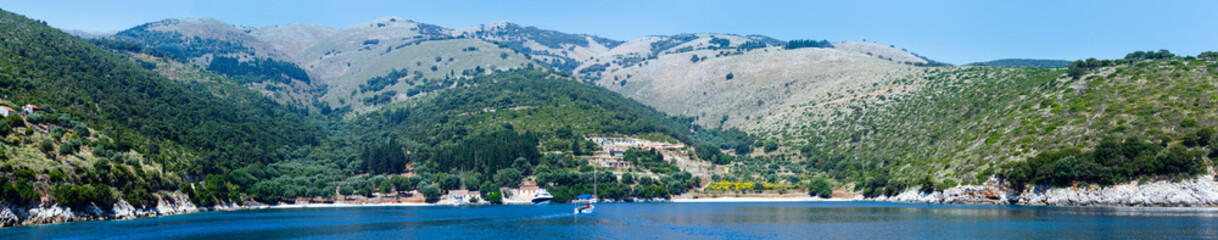 Summer Kefalonia coast panorama (Greece)
