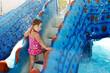 girl in aqua park