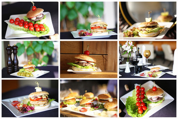 Selection of burgers