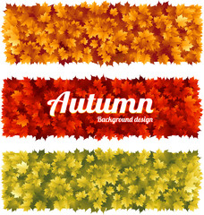 Colorful autumn fall banners with maple leaves