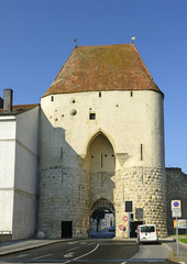 Wienertor, gate to the medieval Hainburg an der Donau, Austria