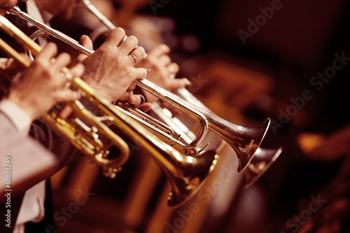 Pipes in the hands of musicians - 68803249