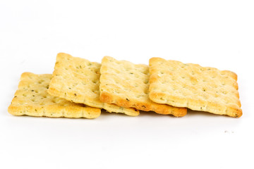 Row of biscuits