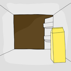 Refrigerator with Milk Carton