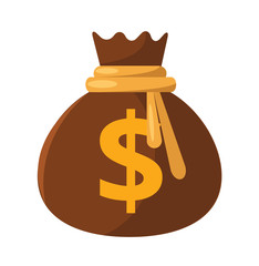 Vector Money Bag Flat Icon