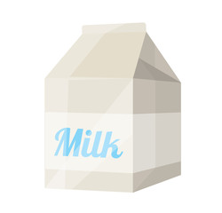 Vector Milk Package Flat Icon