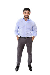 young attractive business man in corporate portrait