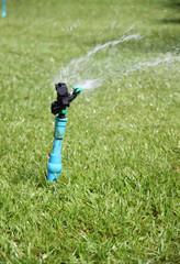 sprinkler is working.