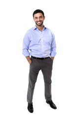 young attractive business man standing in corporate portrait iso
