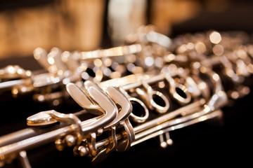 Fragment clarinet closeup