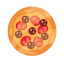 Vector Pizza Flat Icon