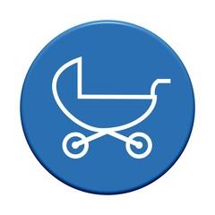 Button rund: Kinderwagen