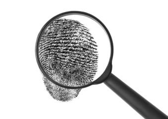 Enlarged fingerprint