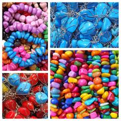 colorful semi-precious stones bijou pattern