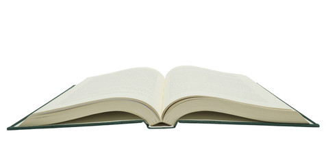 Big Opened Book Isolated On White Background