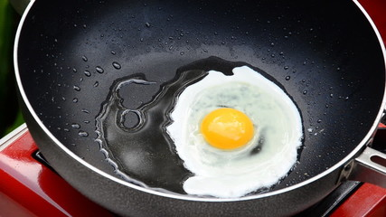 Eggs are high in protein and easy to cook foods, Time lapse. HD