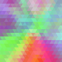 Multicolor Abstract Background Consisting of Triangles