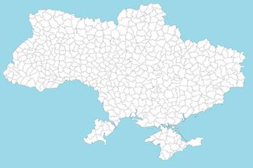 Karte von der Ukraine