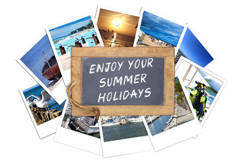 Schiefertafel mit dem Text: Enjoy your Summer Holidays