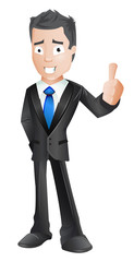 Business character thumb up