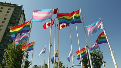 Vancouver, Transgender and Pride Flags