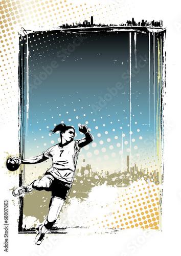 handball poster background - 68807803